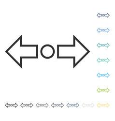 Expand arrows horizontal icon vector