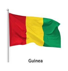 Flag republic guinea vector