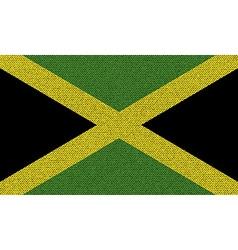 Flags jamaica on denim texture vector
