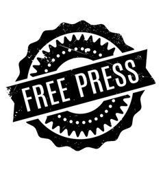 Free press rubber stamp vector