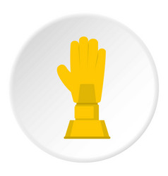 golden baseball glove trophy icon circle vector image