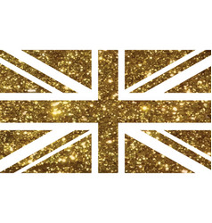 golden luxury glitter united kindom uk country vector image