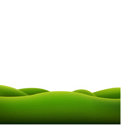 green landscape isolated vector image