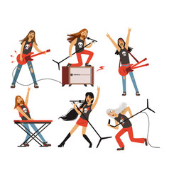Guitar amplifier and other music equipment rock vector