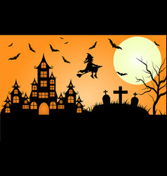 halloween design with wide copy space vector image