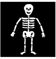 Halloween skeleton silhouette icon symbol design vector