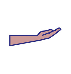 hand with open palm vector image