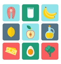 Healthy eating set vector image