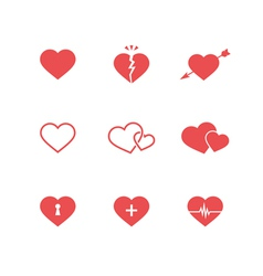 Heart Symbols Set vector image