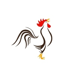 Image of a rooster on a white background 2017 vector image