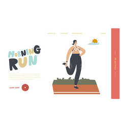 jogging and sport healthy lifestyle exercise vector image