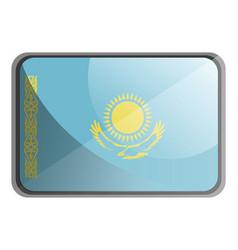 kazakhstan flag on white background vector image