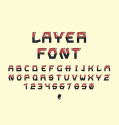 layer font alphabet vector image