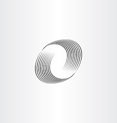 letter o wave icon vector image