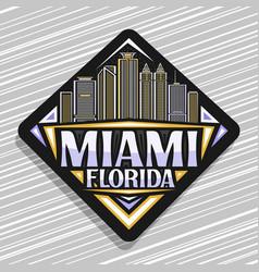 Logo for miami vector