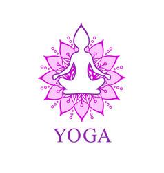 logo for yoga or wellness center vector image