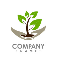 logo green leaf ecology nature element icon vector image