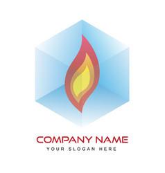logo template - fire vector image