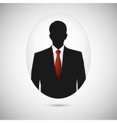 Male person silhouette profile picture whit red vector