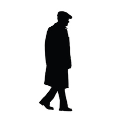 man old silhouette vector image