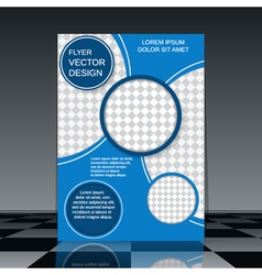 Modern flyer design template vector image