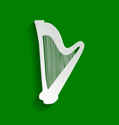 musical instrument harp sign paper vector image