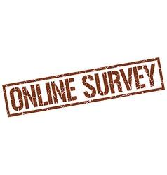 online survey stamp vector image
