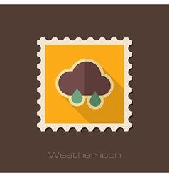 Rain Cloud flat stamp Meteorology Weather vector