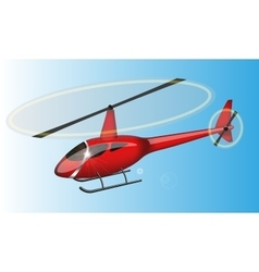 Red helicopter vector image