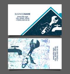Repair plumbing business card vector