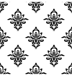 Retro floral seamless pattern with elegance vector
