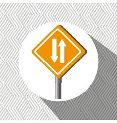 road sign design vector image
