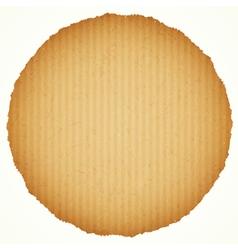Round cardboard frame vector
