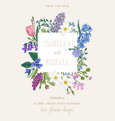 save date card vector image