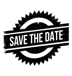 Save the date stamp vector image