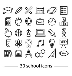 School line icons vector