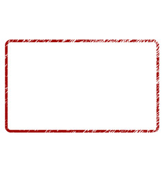 Scratched textured rounded rectangle frame vector