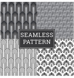 seamless art deco pattern texture decorative vector image