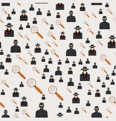 Seamless pattern criminal man in hood or criminal vector