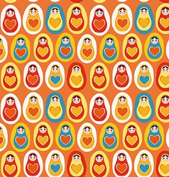 Seamless pattern orange blue red yellow Russian vector image