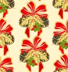 Seamless texture Merry Christmas decoration vector