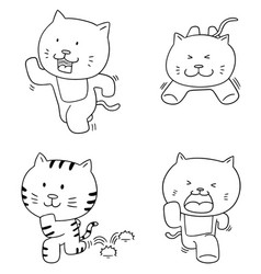 Set of cat running vector