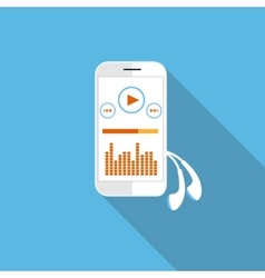 Smartphone music player vector image