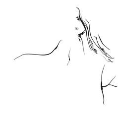 stylish original hand-drawn graphics portrait with vector image