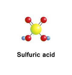 Sulfuric acid molecular structure vector