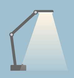 Table lamp with light stream isolated flat color vector
