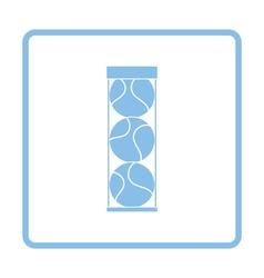 Tennis ball container icon vector