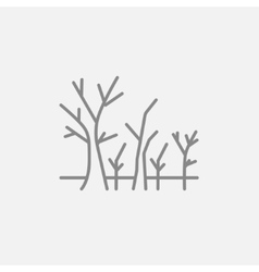 Tree with bare branches line icon vector image
