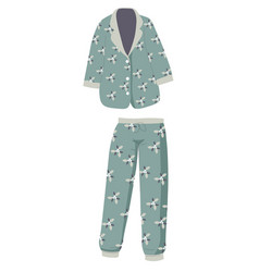 Trendy pajama set trousers and shirt unisex vector