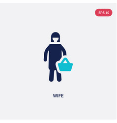 Two color wife icon from family relations concept vector